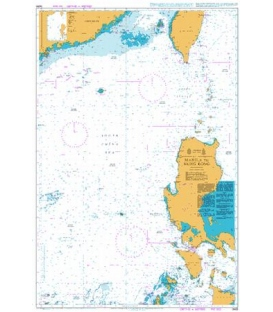 British Admiralty Nautical Chart 3489 Manila to Hong Kong