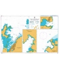 British Admiralty Nautical Chart 3525 Ports on the North and West Coasts of Sabah