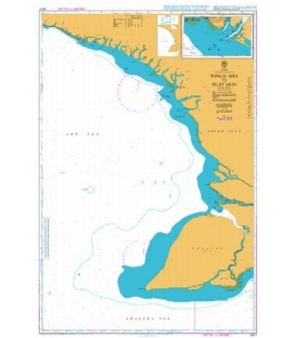 British Admiralty Nautical Chart 3527 Sungai Aika to Selat Muli