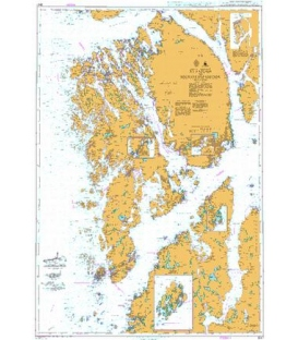 British Admiralty Nautical Chart 3547 Ryvarden to Selbjornsfjorden