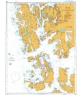British Admiralty Nautical Chart 3553 Selbjornsfjorden to Bergen
