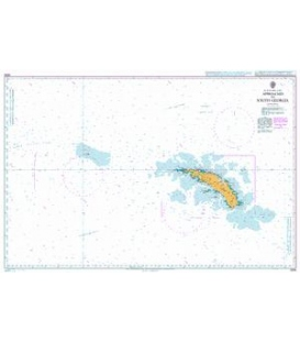 British Admiralty Nautical Chart 3596 Approaches to South Georgia