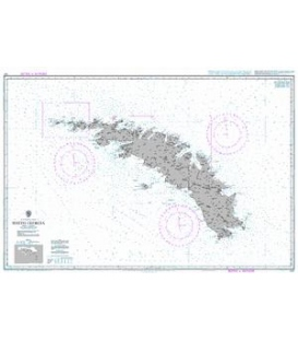 British Admiralty Nautical Chart 3597 South Georgia