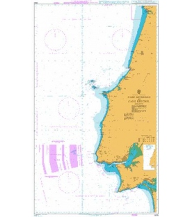British Admiralty Nautical Chart 3635 Cabo Mondego to Cabo Espichel
