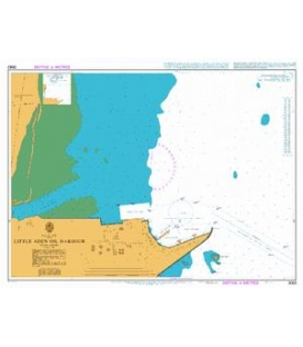British Admiralty Nautical Chart 3662 Little Aden Oil Harbour