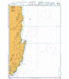 British Admiralty Nautical Chart 3666 Busan Hang to Jukbyeon Hang