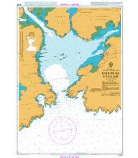 British Admiralty Nautical Chart 3725 Baltimore Harbour