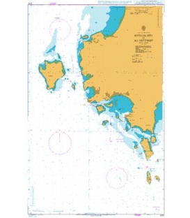 British Admiralty Nautical Chart  3727 Approaches to Ao Sattahip