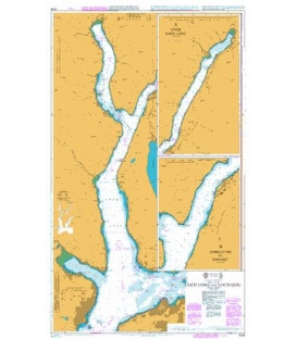 British Admiralty Nautical Chart 3746 Loch Long and Loch Goil