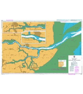 British Admiralty Nautical Chart 3750 Rivers Crouch and Roach