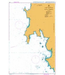 British Admiralty Nautical Chart 3764 Cabo Torinana to Punta Carreiro
