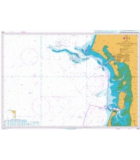 British Admiralty Nautical Chart 3766 Approaches to Esbjerg including Horns Rev