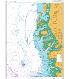 British Admiralty Nautical Chart 3767 Helgoland to Romo