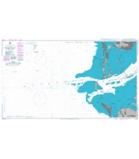 British Admiralty Nautical Chart 3847 Approaches to Tampa Bay