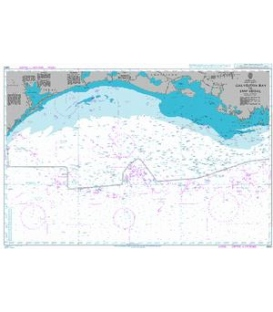 British Admiralty Nautical Chart 3850 Galveston Bay to Ship Shoal
