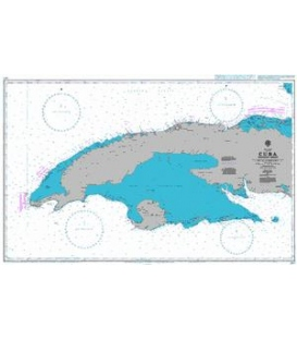 British Admiralty Nautical Chart 3867 Cuba Western Sheet
