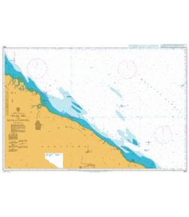 British Admiralty Nautical Chart 3921 Teluk Aru to Kualatanjung