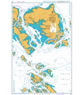 British Admiralty Nautical Chart 3949 Selat Riau