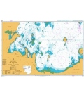 British Admiralty Nautical Chart 3951 Sir Bani Yas to Khawr al `Udayd