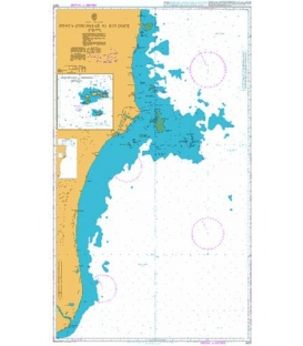 British Admiralty Nautical Chart 3973 Ponta Corumbau to Rio Doce