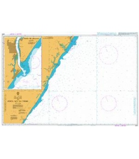 British Admiralty Nautical Chart 3976 Aracaju to Ponta Acu da Torre