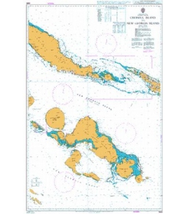 British Admiralty Nautical Chart 3995 Choiseul Island to New Georgia Island