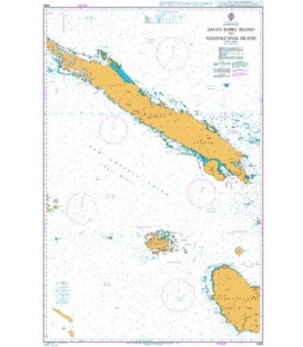 British Admiralty Nautical Chart 3996 Santa Isabel Island to Guadalcanal Island