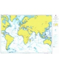 British Admiralty Nautical Chart 4001 A Planning Chart for the Atlantic and Indian Oceans