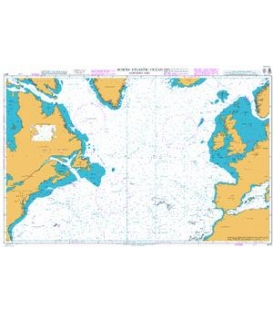 British Admiralty Nautical Chart 4011 North Atlantic Ocean Northern Part