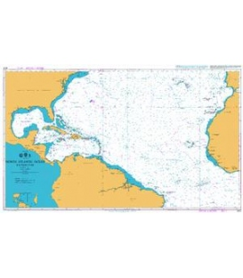British Admiralty Nautical Chart 4012 North Atlantic OceanSouthern Part