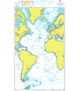 British Admiralty Nautical Chart 4015 A Planning Chart for the Atlantic Ocean