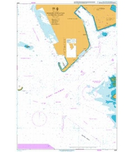 British Admiralty Nautical Chart 4031 Western Approaches to Jurong Island