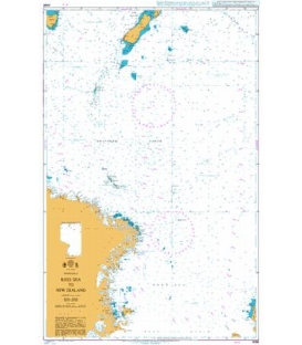 British Admiralty Nautical Chart 4065 Ross Sea to New Zealand