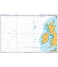 British Admiralty Nautical Chart 4102 Western Approaches to the British Isles
