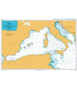 British Admiralty Nautical Chart 4301 Mediterranean Sea, Western Part