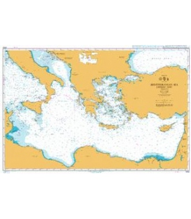 British Admiralty Nautical Chart 4302 Mediterranean Sea Eastern Part