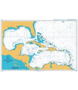 British Admiralty Nautical Chart 4400 The West Indies