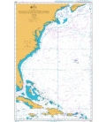 British Admiralty Nautical Chart 4403 Southeast Coast of North America including the Bahamas and Greater Antilles