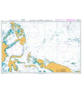 British Admiralty Nautical Chart 4507 Philippines to Bismarck Archipelago