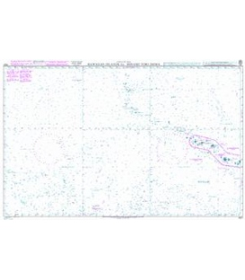 British Admiralty Nautical Chart 4521 Hawaiian Islands to Minami-tori Shima