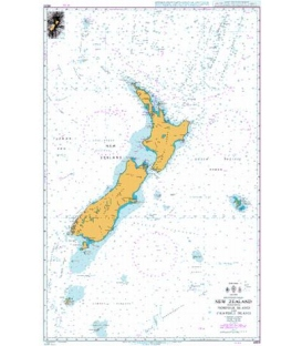 British Admiralty Nautical Chart 4600 New Zealand including Norfolk Island and Campbell Island