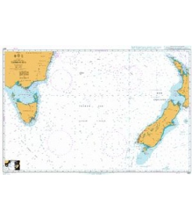British Admiralty Nautical Chart 4601 Tasman Sea