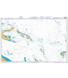 British Admiralty Nautical Chart 4604 Coral and Solomon Seas and Adjacent Seas