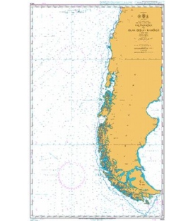 British Admiralty Nautical Chart 4609 Valparaiso to Islas Diego Ramirez