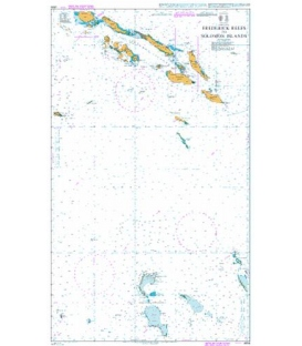 British Admiralty Nautical Chart 4634 Frederick Reefs to Solomon Islands