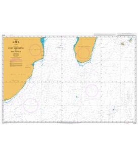 British Admiralty Nautical Chart 4700 Port Elizabeth to Mauritius