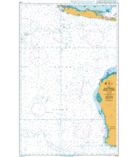 British Admiralty Nautical Chart 4708 Australia West Coast
