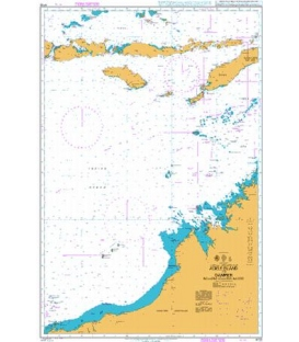 British Admiralty Nautical Chart 4722 Adele Island to Dampier including adjacent waters