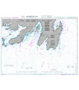 British Admiralty Nautical Chart 4734 Saint-Pierre To/A St John's