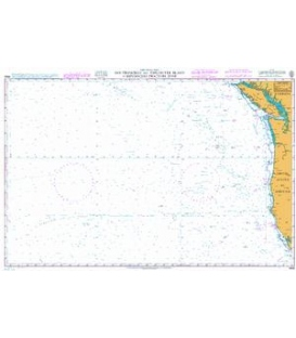 British Admiralty Nautical Chart 4806 San Francisco and Vancouver Island to Mendocino Fracture Zone